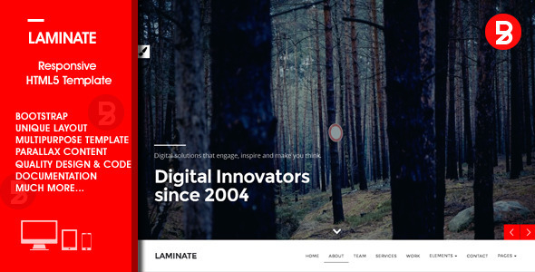 ThemeForest Laminate Multipurpose HTML5 Template 10259070
