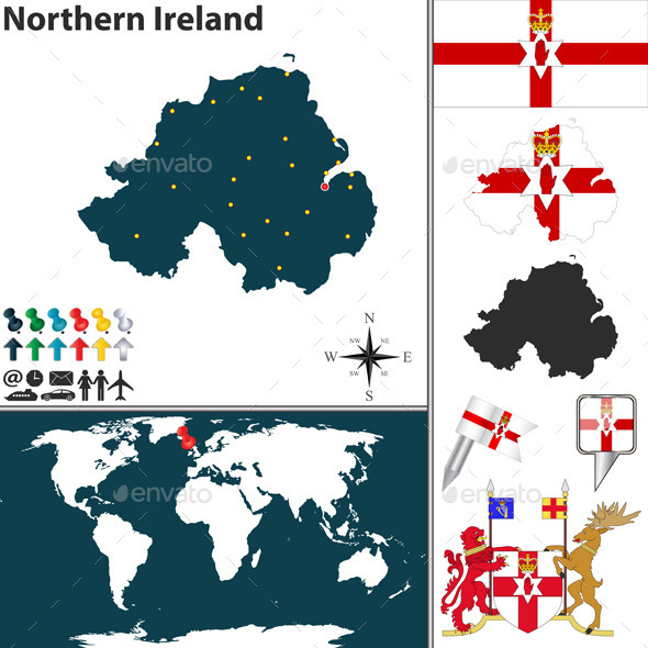 GraphicRiver Map of Northern Ireland 10259198