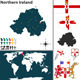 Map of Northern Ireland - GraphicRiver Item for Sale