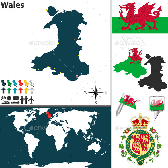 GraphicRiver Map of Wales 10259201