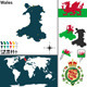 Map of Wales - GraphicRiver Item for Sale