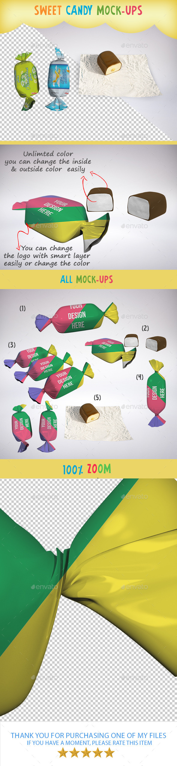 GraphicRiver Sweet Candy Mock-Ups 10259256