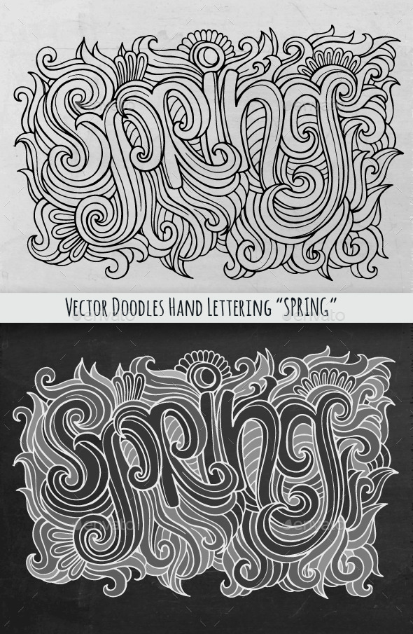 GraphicRiver Spring Hand Lettering 10259278