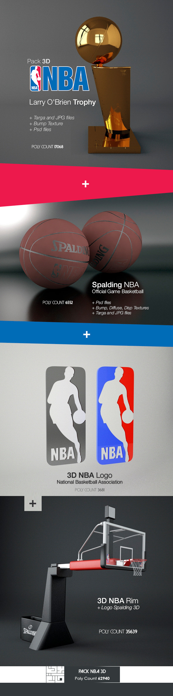 3DOcean Pack NBA 3D 10259308