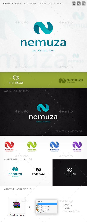 GraphicRiver Nemuza N Letter Logo 10259575