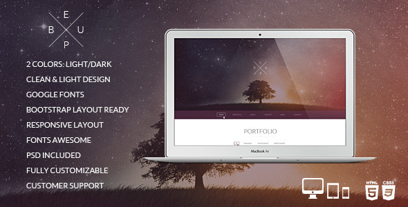 BeUp - One Page Multi Purpose Modern HTML Template