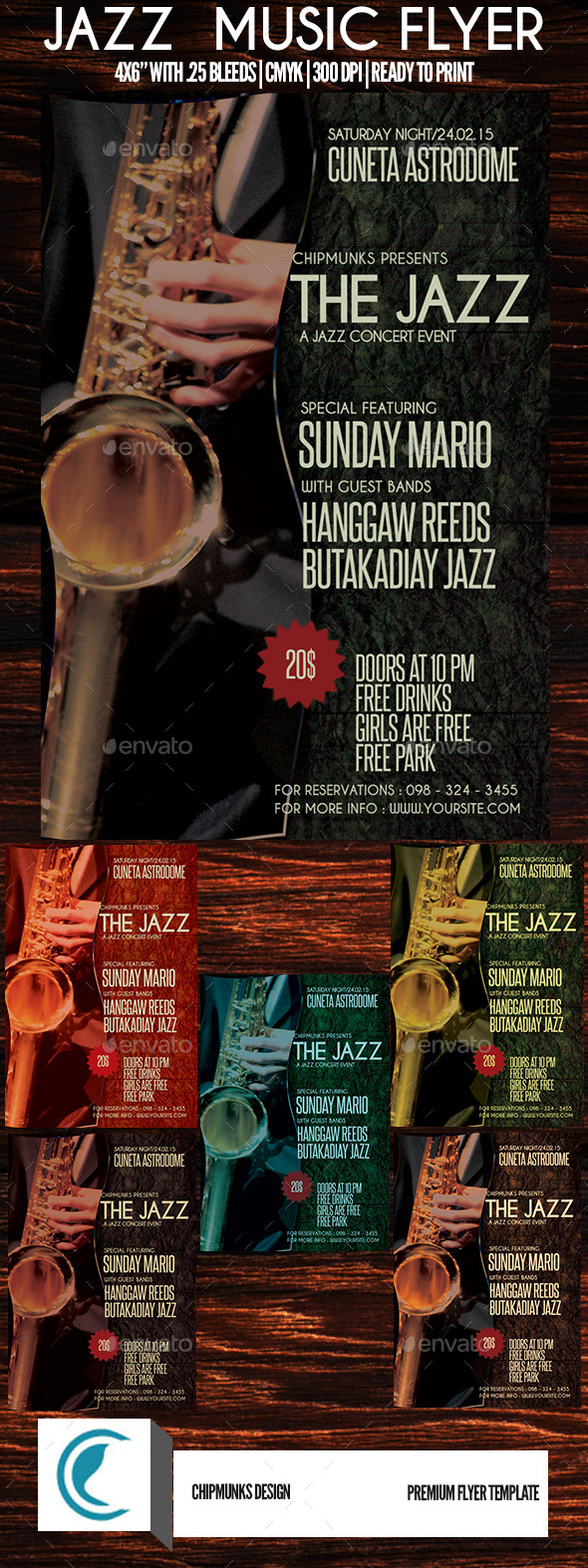 GraphicRiver Jazz Music Flyer 10259754