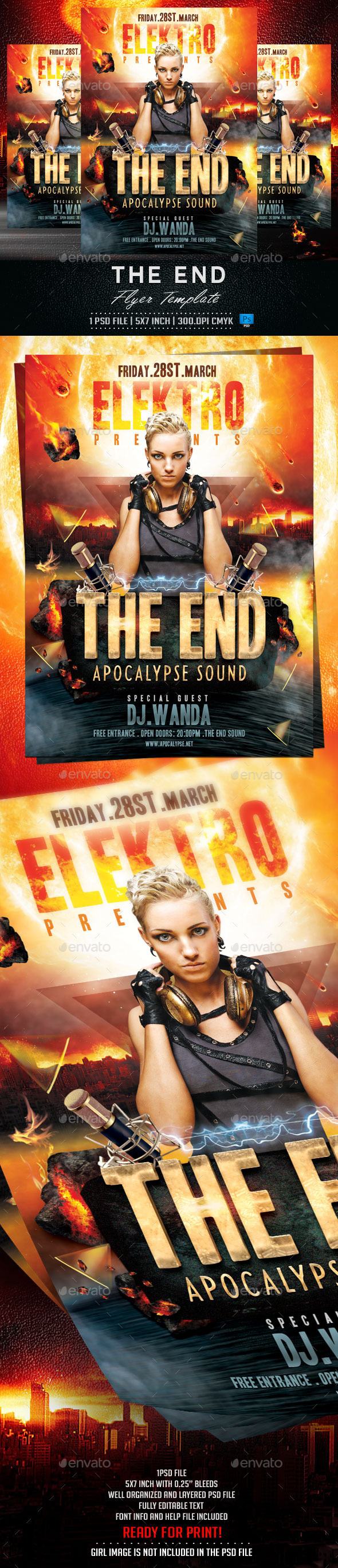GraphicRiver The End Flyer Template 10259762