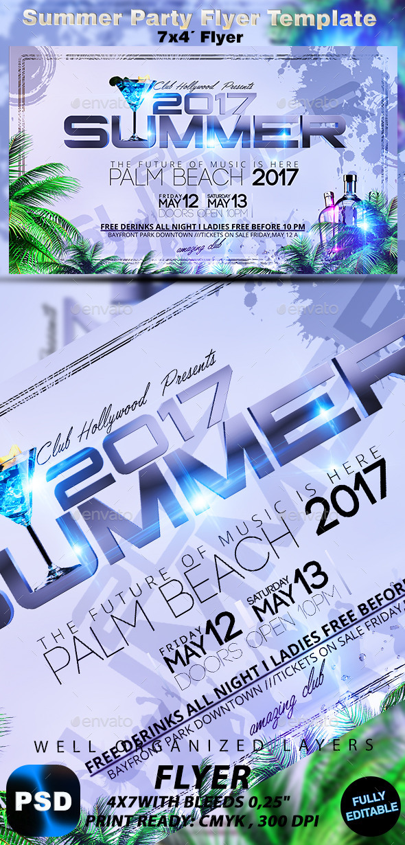 GraphicRiver Summer Party Flyer Template 10259812