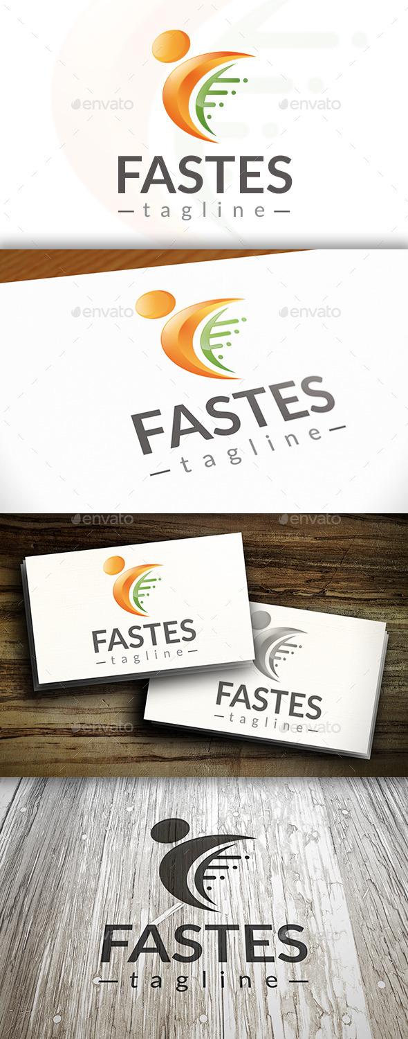 GraphicRiver Fast People Logo 10259817