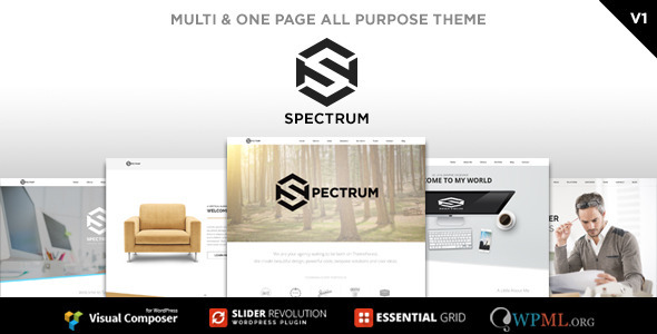 ThemeForest Spectrum Multi & One Page All Purpose WP Theme 10259946