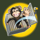 Baby Chimpanzee Breaking a Cage - GraphicRiver Item for Sale