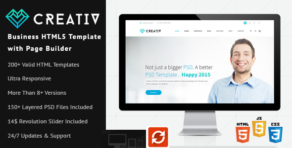 ThemeForest Creativ Business HTML5 Template with Page Builder 10206744