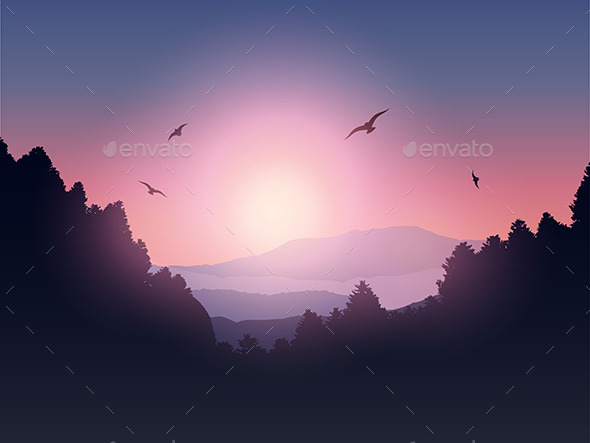 GraphicRiver Mountain Landscape 10260848