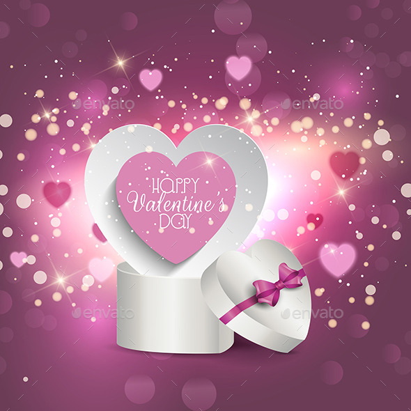 GraphicRiver Valentine s Gift Box Background 10260874