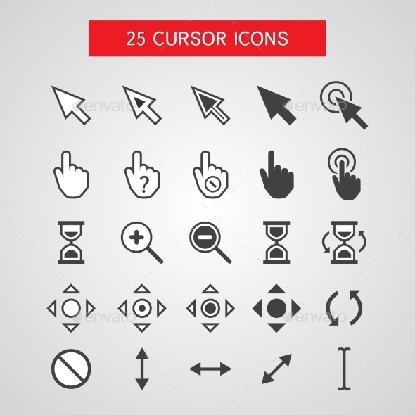 GraphicRiver Cursor Icons Set 10260930