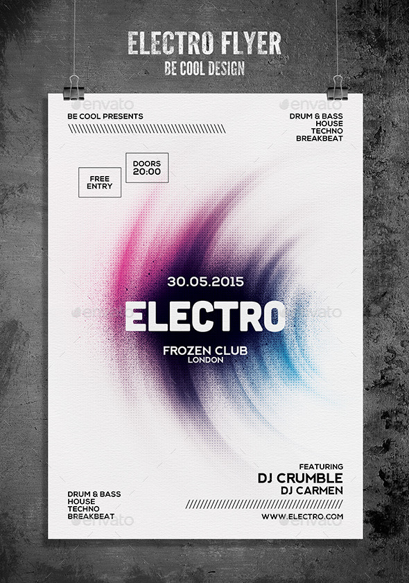 GraphicRiver Electro Flyer Poster 10180252