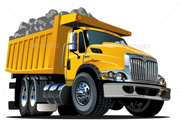 GraphicRiver Cartoon Dump Truck 10261073