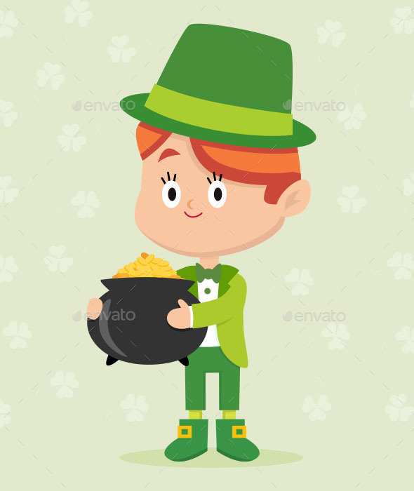 GraphicRiver Leprechaun Character Pose 10261127