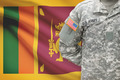 American soldier with flag on background - Sri Lanka - PhotoDune Item for Sale