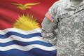 American soldier with flag on background - Kiribati - PhotoDune Item for Sale