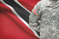 American soldier with flag on background - Trinidad and Tobago - PhotoDune Item for Sale