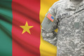 American soldier with flag on background - Cameroon - PhotoDune Item for Sale