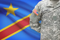 American soldier with flag on background - Democratic Republic of the Congo - Congo-Kinshasa - PhotoDune Item for Sale