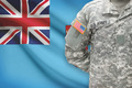 American soldier with flag on background - Fiji - PhotoDune Item for Sale