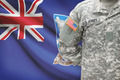American soldier with flag on background - Falkland Islands - PhotoDune Item for Sale