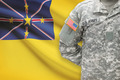 American soldier with flag on background - Niue - PhotoDune Item for Sale