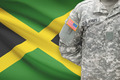American soldier with flag on background - Jamaica - PhotoDune Item for Sale