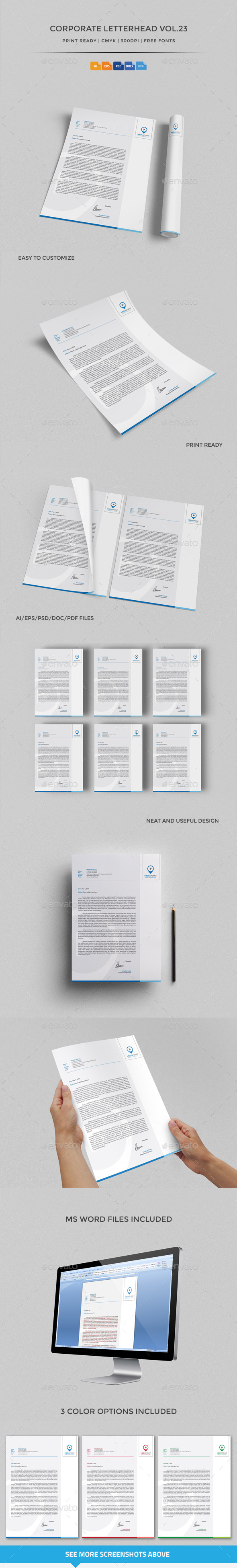 GraphicRiver Corporate Letterhead vol.23 with MS Word DOC DOCX 10264673