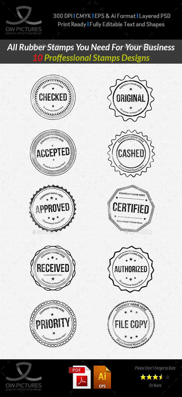 GraphicRiver Rubber Stamps Designs Collection Vol.2 10264972