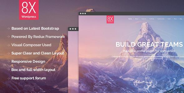 8X - Creative Multi Purpose Wordpress Theme