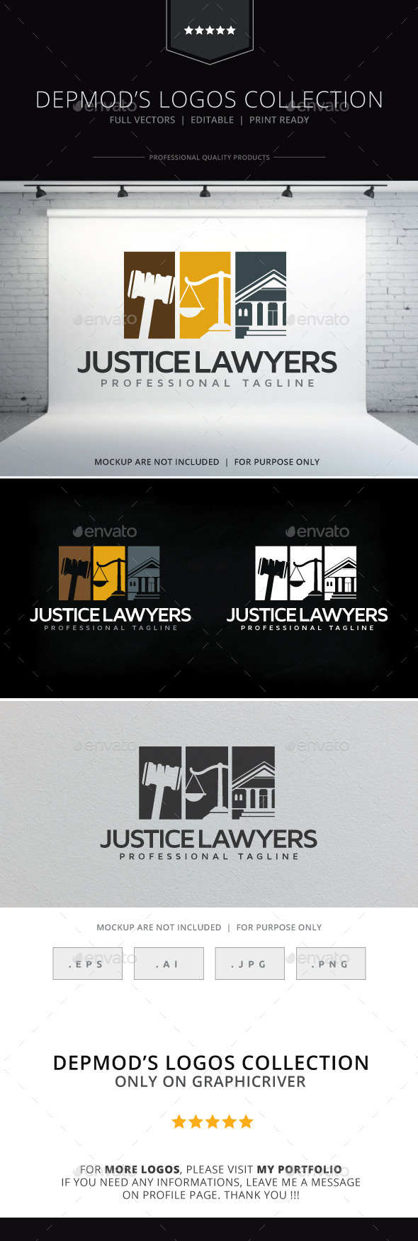 GraphicRiver Justice Lawyers Logo 10265072