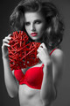 charming woman in valentines portrait - PhotoDune Item for Sale