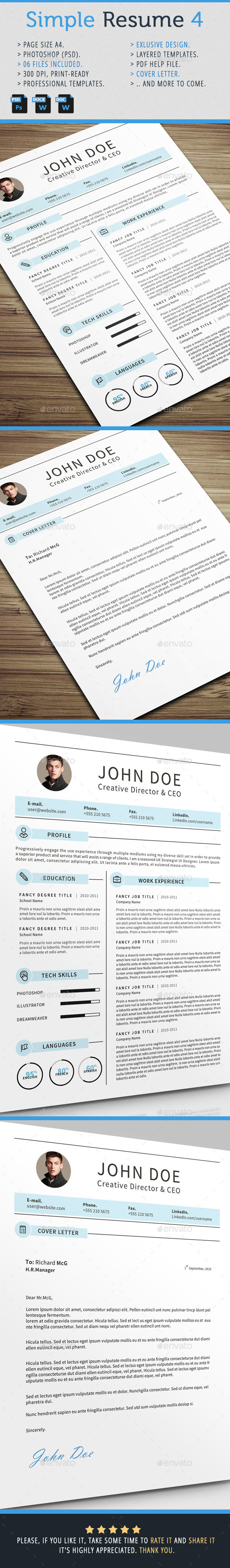 GraphicRiver Simple Resume 4 10265158