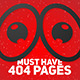 Sad Eye 404 Error Page - GraphicRiver Item for Sale