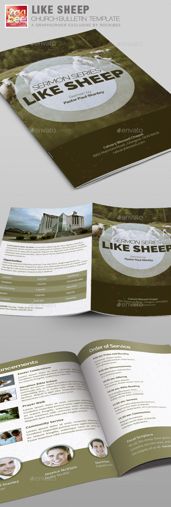 GraphicRiver Like Sheep Church Bulletin Template 10265476