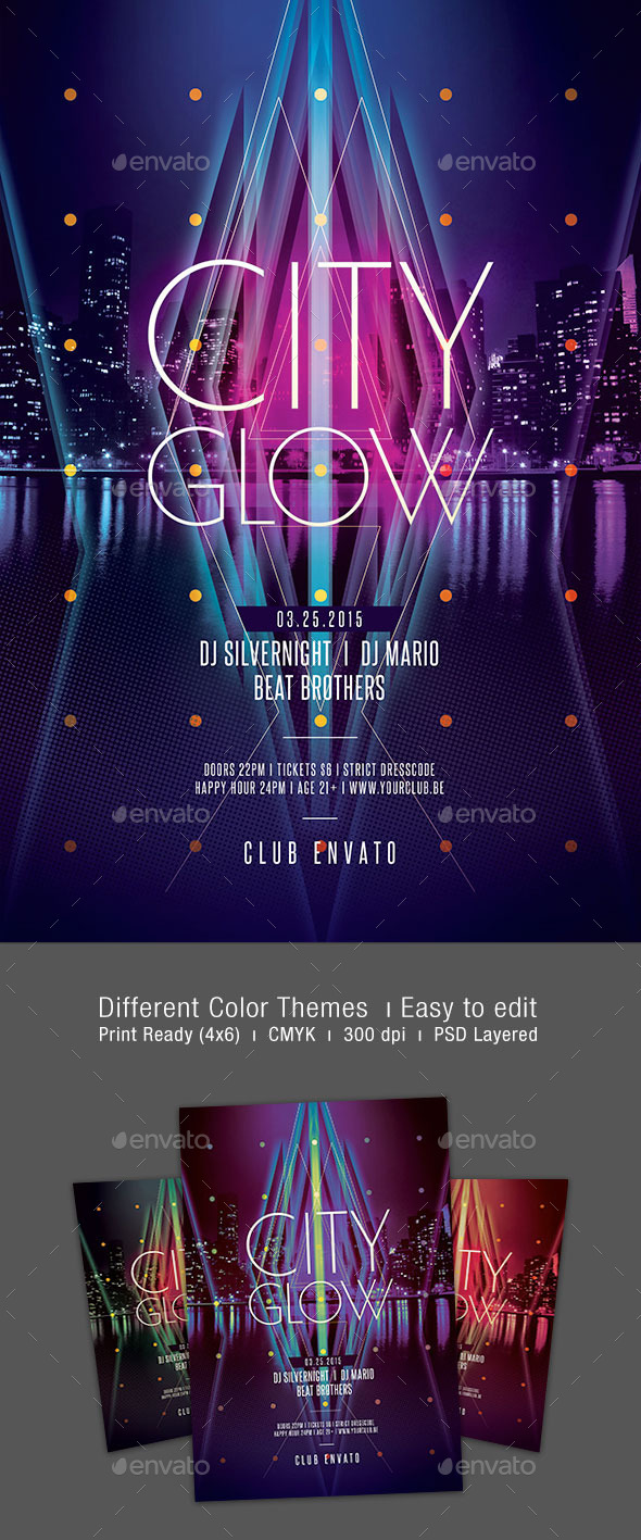 GraphicRiver City Glow Flyer 10265508