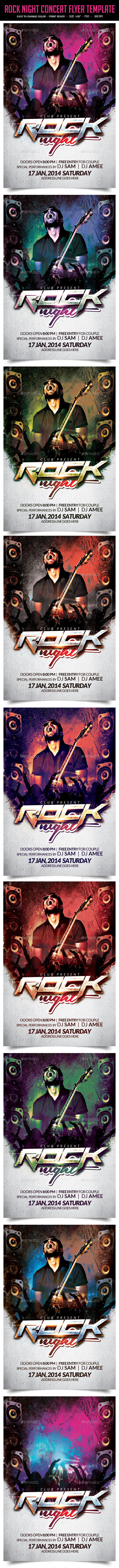 GraphicRiver Rock Night Concert Flyer Template 10265624