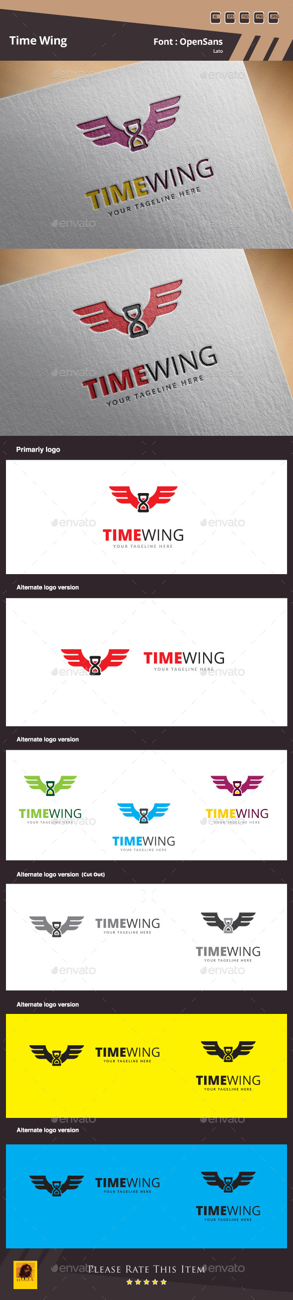 GraphicRiver Time Wing Logo Template 10265776