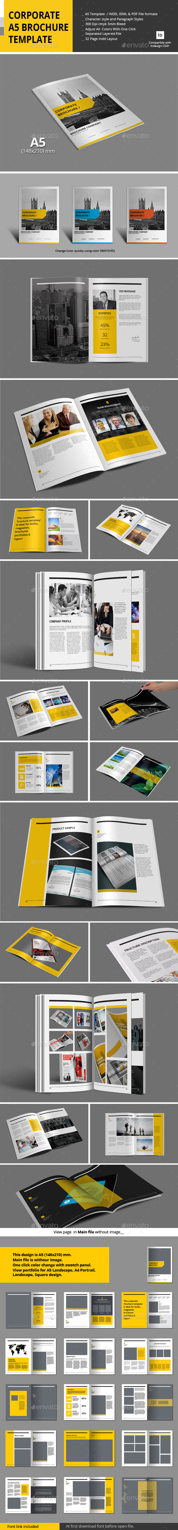 GraphicRiver Corporate A5 Brochure Template 10265830