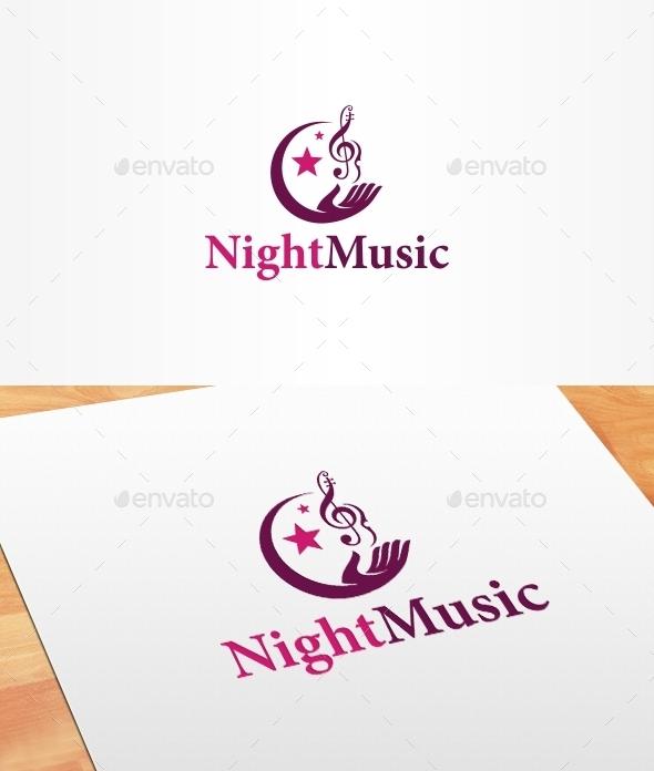 GraphicRiver Night Music Logo Template 10244900