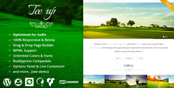 Tee Up - Elegant Golf Wordpress Theme - Miscellaneous WordPress
