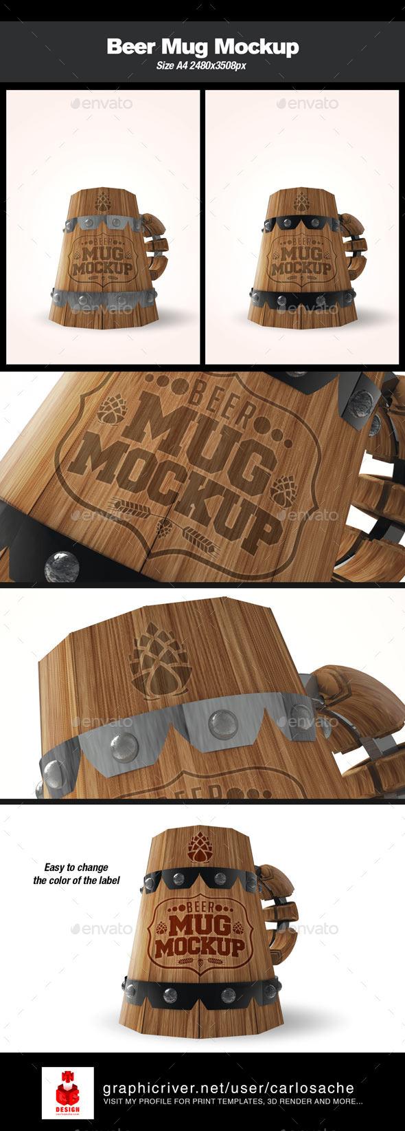 GraphicRiver Beer Mug Mockup 10231497