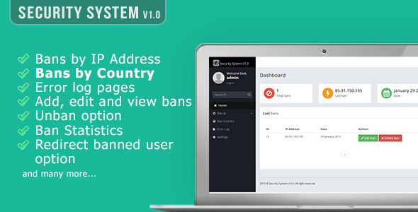 CodeCanyon Security System v1.0 10185499