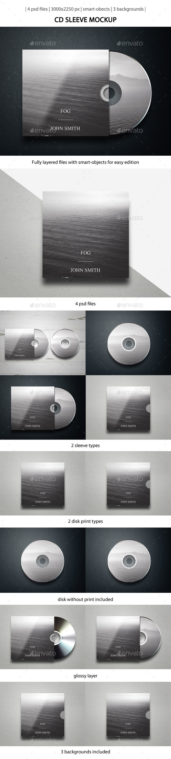 GraphicRiver CD Sleeve Mockup 10266317