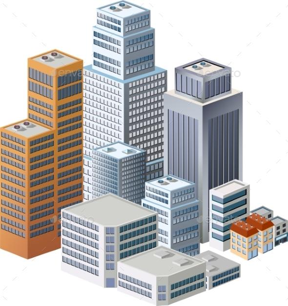 GraphicRiver Skyscrapers 10266359